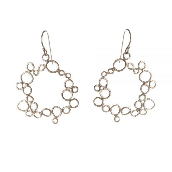 Circle Bubble Earrings - Silver