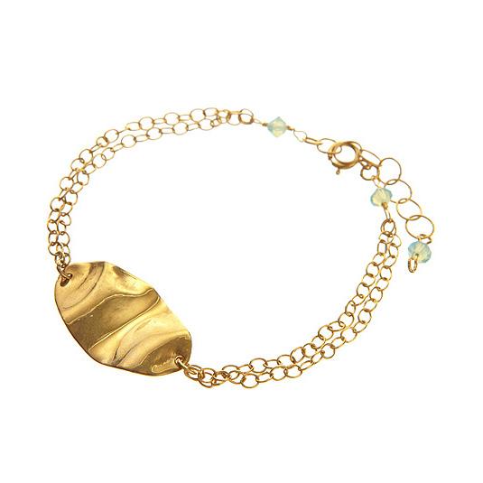 Wavy Oval Bracelet