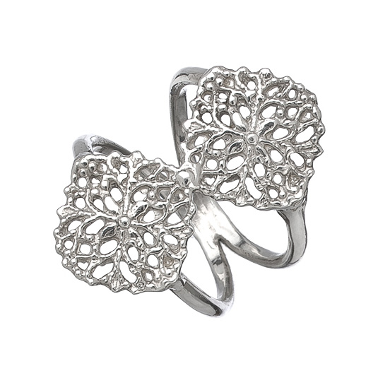 Double Filigree Ring - Silver