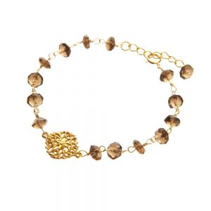Smokey Topaz and Filigree Bracelet
