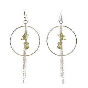 Waterfall Earrings with Peridot