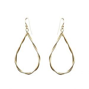 Rope Tear Drop Earrings