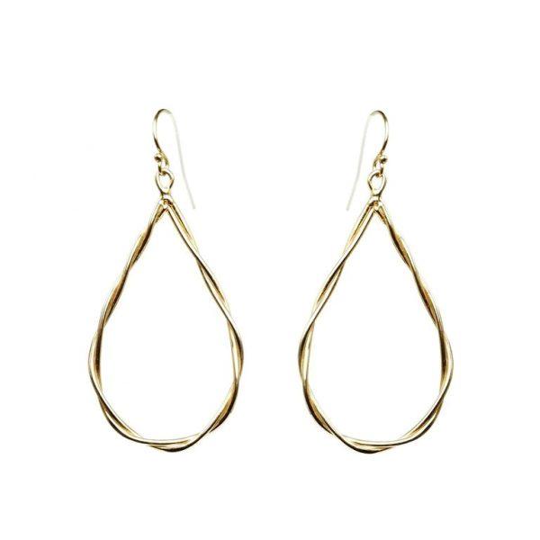 Rope Tear Drop Earrings