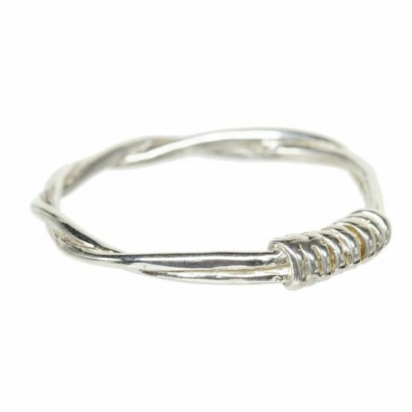 Coil Rope Ring - Silver