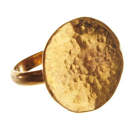 Hammered Coin Ring