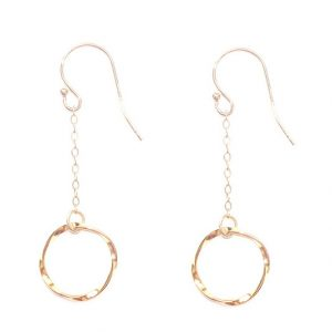 Small Twisted Circle Drop Earrings