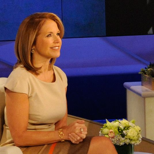 Large Twisted Circle Cuff worn by Katie Couric