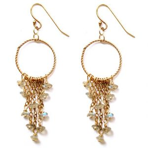 Chandelier Earrings with Labradorite