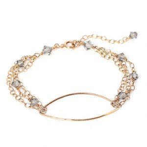 Hammered Oval Bracelet