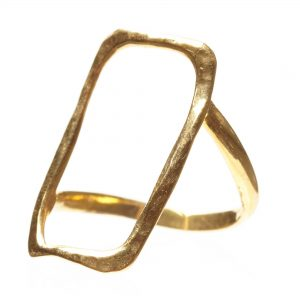 Hammered Rectangle Ring