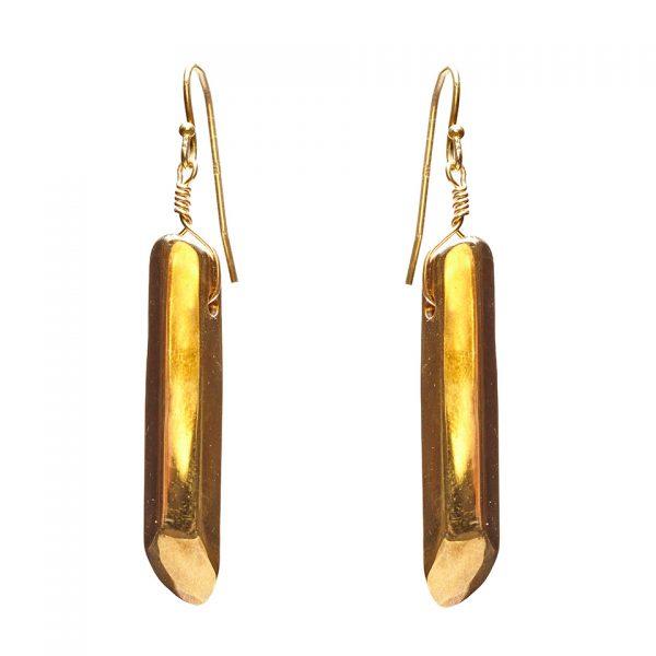 Crystal Nugget Earrings