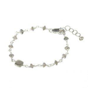 Labradorite Bracelet with Square Nugget