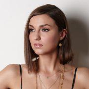 Disc Earrings worn by Model