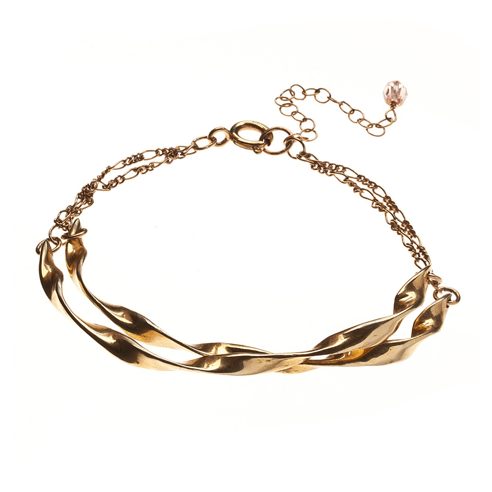 Double Stacked Twisted Bracelet - Alicia Marilyn Designs