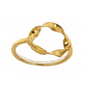 Small Twisted Circle Ring