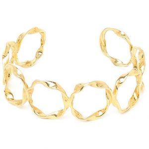 Large Twisted Circle Cuff