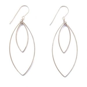 Double Oval Shaped Earrings